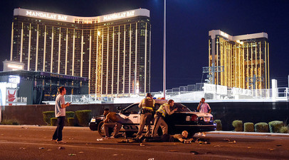 Полиция на месте происшествия в Лас-Вегасе