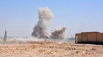 Продвижение сирийских правительственные сил при поддержке ВКС России на окраине Дейр эз-Зора