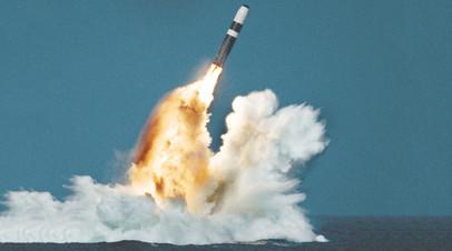 Запуск ракеты Трайдент II