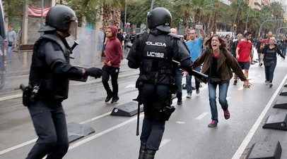 Беспорядки после референдума о независимости Каталонии, Барселона