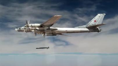 Нанесение авиаударов Ту-95МС крылатыми ракетами Х-101 по объектам ИГИЛ в Сирии