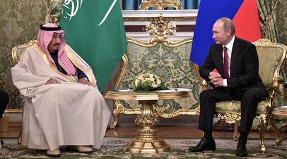 Владимир Путин и король Саудовской Аравии Сальман бен Абдель-Азиз Аль Сауд