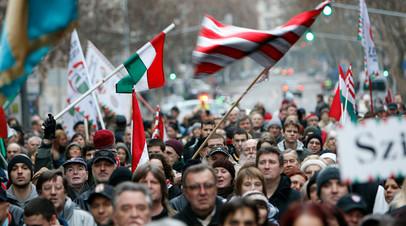 Марш венгерских националистов в Будапеште