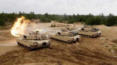 Танк М1 «Абрамс» во время учений НАТО Saber Strike