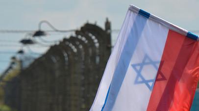 Флаги Израиля и Польши во время ежегодного «Марш жизни» в Польше