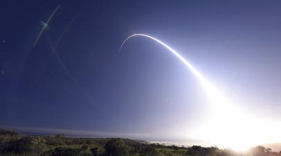 Пуск баллистической ракеты Minuteman III