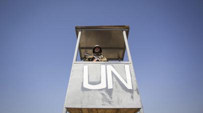 Солдат миротворческого контингента ООН