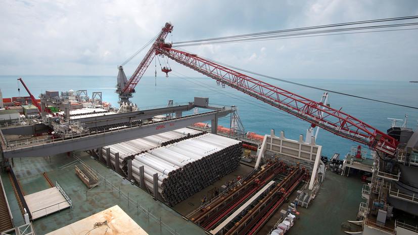 «Четверть морского участка»: завершено строительство российской части «Турецкого потока»