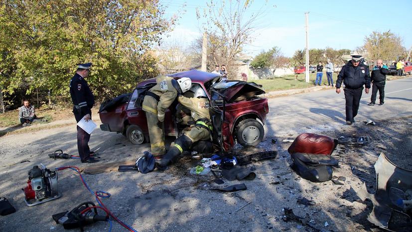 В Крыму в ДТП пострадали десять человек