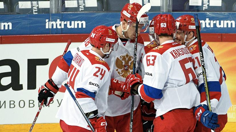 сборная России по хоккею громит Чехию после второго периода в рамках Кубка Карьяла»