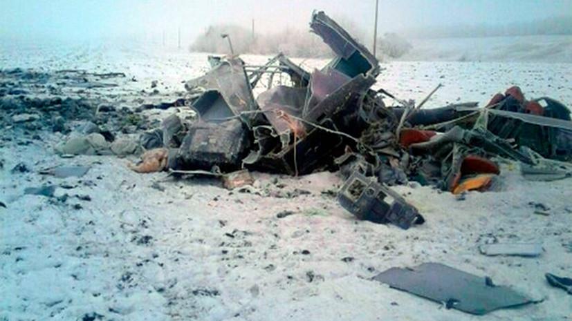 В Тамбовской области в результате крушения вертолёта погибли два человека