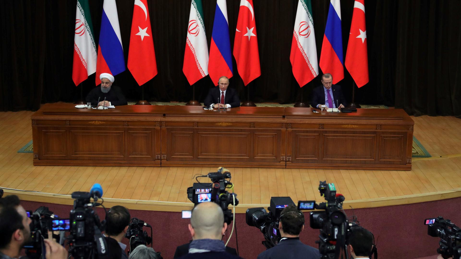 «Знаковое событие»: Путин, Эрдоган и Рухани согласовали совместное заявление по Сирии