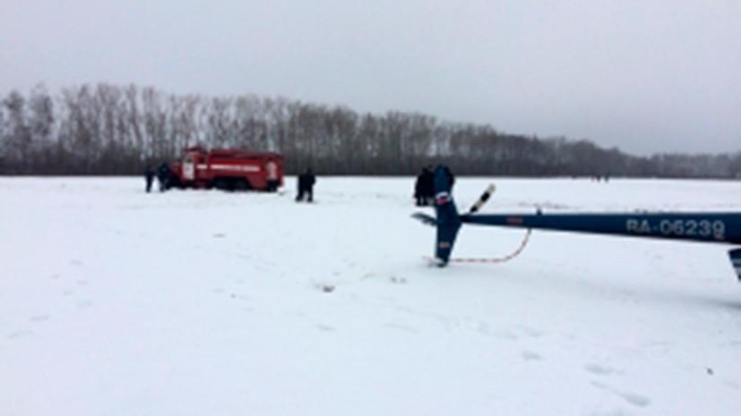 СК проводит проверку по факту крушения вертолёта в Тамбовской области