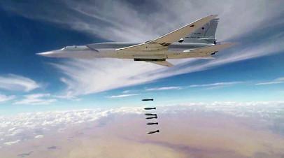 Авиаудары бомбардировщиками Ту-22М3 ВКС РФ