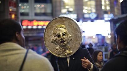 Нью-Йорк, протестная акция Occupy Wall Street. 2011 год