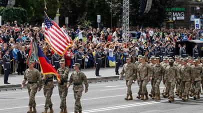 Военные США на параде в Киеве в честь Дня независимости Украины