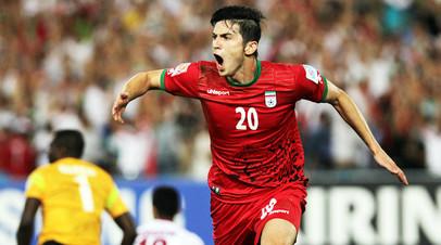 Нападающий сборной Ирана и казанского «Рубина» Сердар Азмун