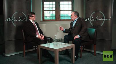 Экс-глава Каталонии Карлес Пучдемон стал гостем премьерного выпуска нового политического «Шоу Алекса Салмонда» на RT UK