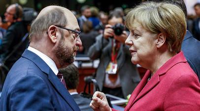 Мартин Шульц и Ангела Меркель