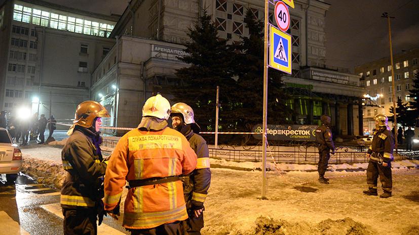 Устройство с поражающими элементами: 10 человек пострадали при взрыве в супермаркете «Перекрёсток» в Санкт-Петербурге