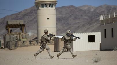 Американские военные во время учений в Афганистане