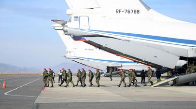 Самолет ИЛ-76 МД, прибывший из Сирии