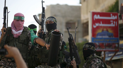 Боевики исламистского движения ХАМАС