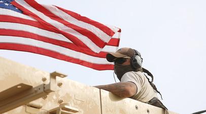 Военнослужащий ВС США в Сирии