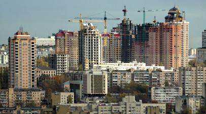 Жилой район в Киеве.