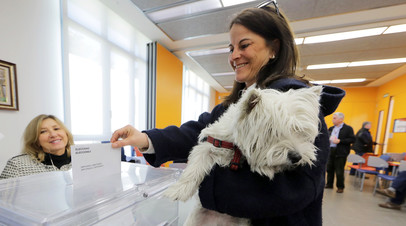 На избирательном участке в Барселоне