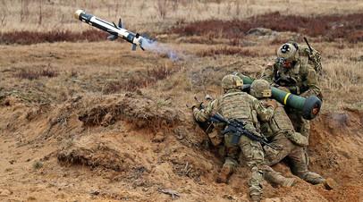 Военные с противотанковым ракетным комплексом Javelin