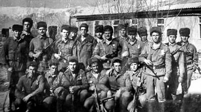 Военнослужащие 9-й роты 345-го парашютно-десантного полка ВДВ