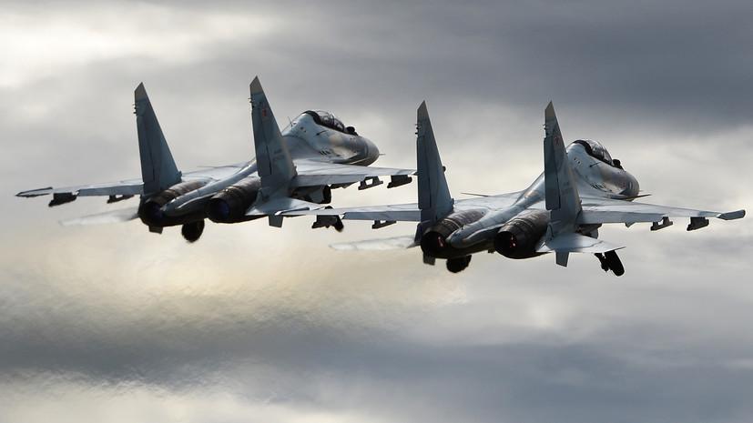 «Маршрут был согласован»: в Минобороны рассказали о сближении Су-30 и F-15 над Балтикой