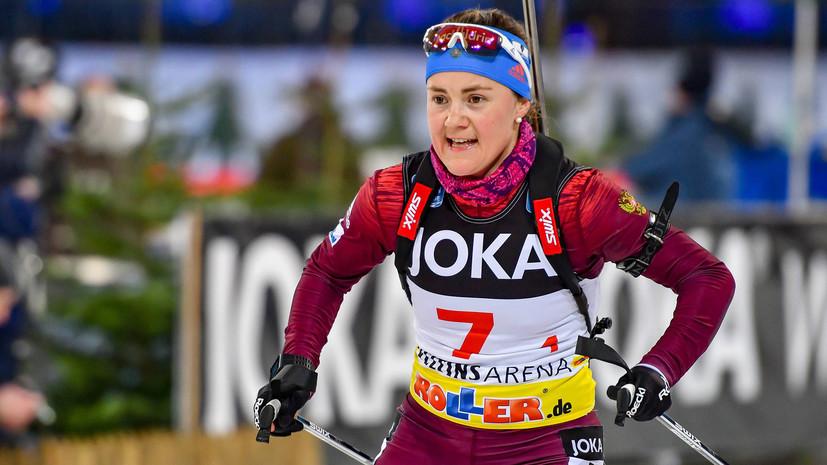 Юрлова-Перхт заняла шестое место в спринте на этапе КМ по биатлону в Антхольце