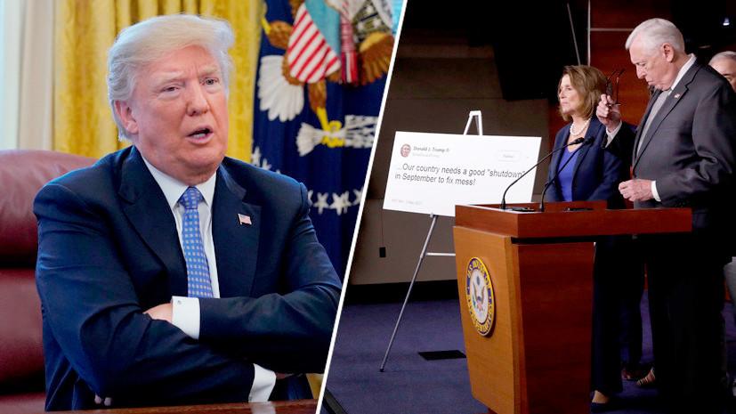 «Ядерная опция»: Трамп пригрозил демократам изменить правила голосования в сенате из-за шатдауна