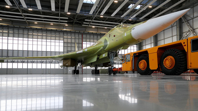 Путину показали полёт нового сверхзвукового стратегического ракетоносца Ту-160