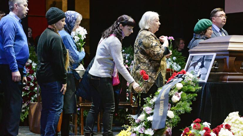 Прощание с Людмилой Сенчиной состоится 28 января в Петербурге