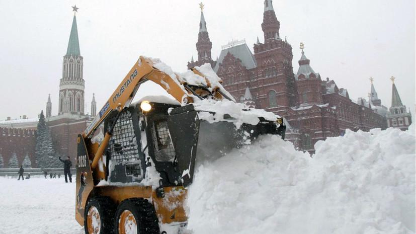 В Москве на месяц раньше выпала зимняя норма осадков