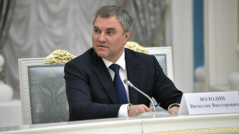 Володин назвал «кремлёвский доклад» США попыткой повлиять на внутреннюю политику России