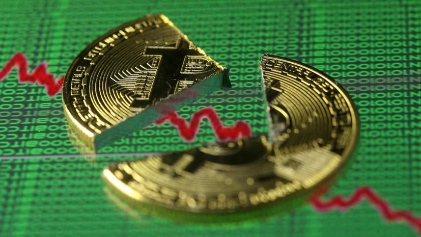 Курс биткоина упал ниже $10 тысяч