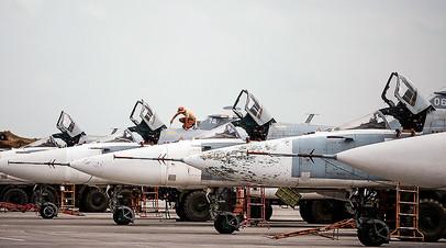 Российские самолёты на авиабазе Хмеймим