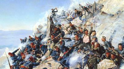 «Защита «Орлиного гнезда» 12 августа 1877 года» (1893), Александр Попов