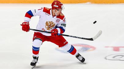 Игрок сборной России Кирилл Капризов