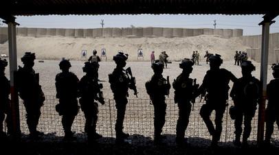 Тренировочный лагерь ВС США на Ближнем Востоке
