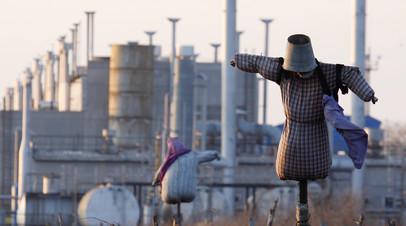 Газовая станция в поселке Орловка, Украина