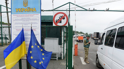 Контрольно-пропускной пункт на украинско-польской границе