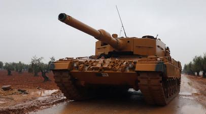 Танк «Леопард» турецких ВС в Африне