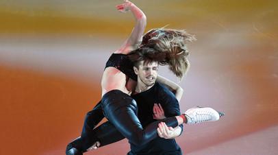 Александра Степанова и Иван Букин во время показательных выступлений на чемпионате Европы по фигурному катанию в Москве