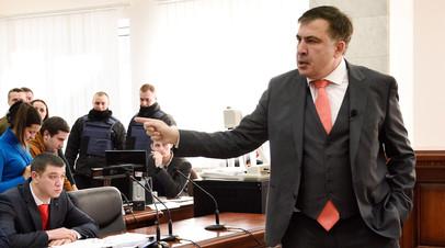 Михаил Саакашвили в Апелляционном суде в Киеве