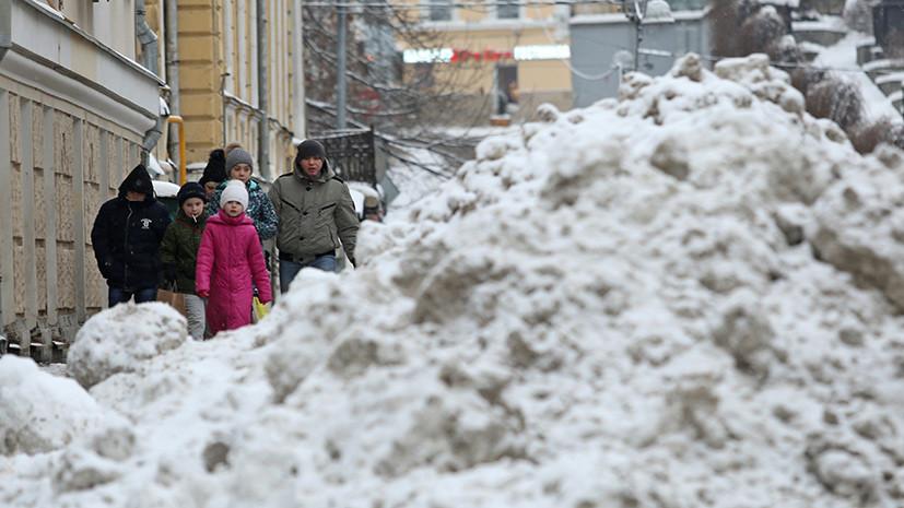 В выходные в Москве ожидается сильный снегопад